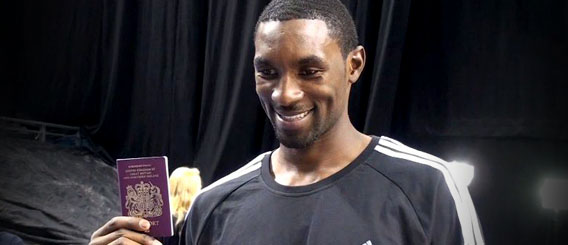 Ben Gordon got his British passport in 2010