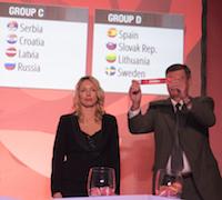 Ex-Russian forward Ilona Korstin helped make the draw (FIBA Europe)