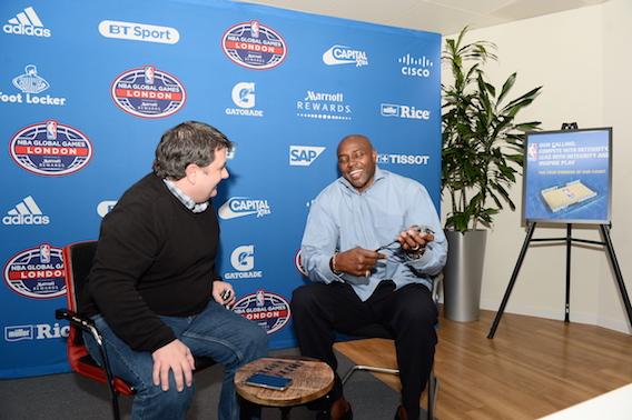 Grant talks to MVP's Niall Gray (Mansoor Ahmed)