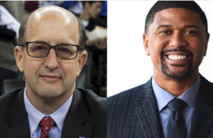 Jalen rose and Jeff van gundy