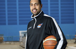 30/03/16 RICCARTON - EDINBURGH  Kieron Achara (Glasgow Rocks captain and Olympian for Team GB at London 2012).