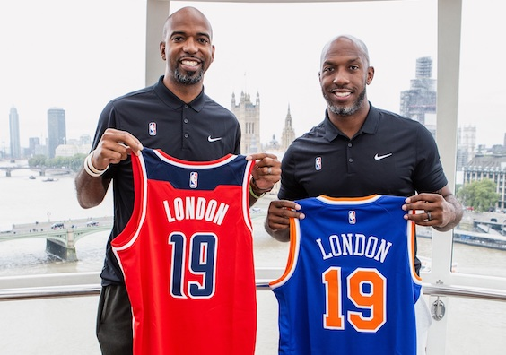 dedbe9126 Former Detroit Pistons team-mates Rip Hamilton and Chauncey Billips visited  London this week.